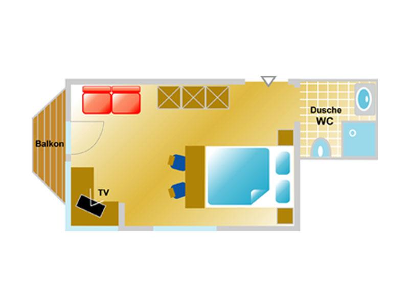 Grundriss Doppelzimmer Typ C
